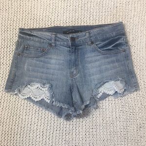 Eunina Lulu's Mid rise shortie jean shorts